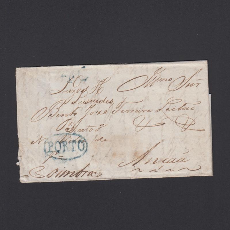 Pré-Filatélica circulada do Porto para Ançã datada 31-04-1834