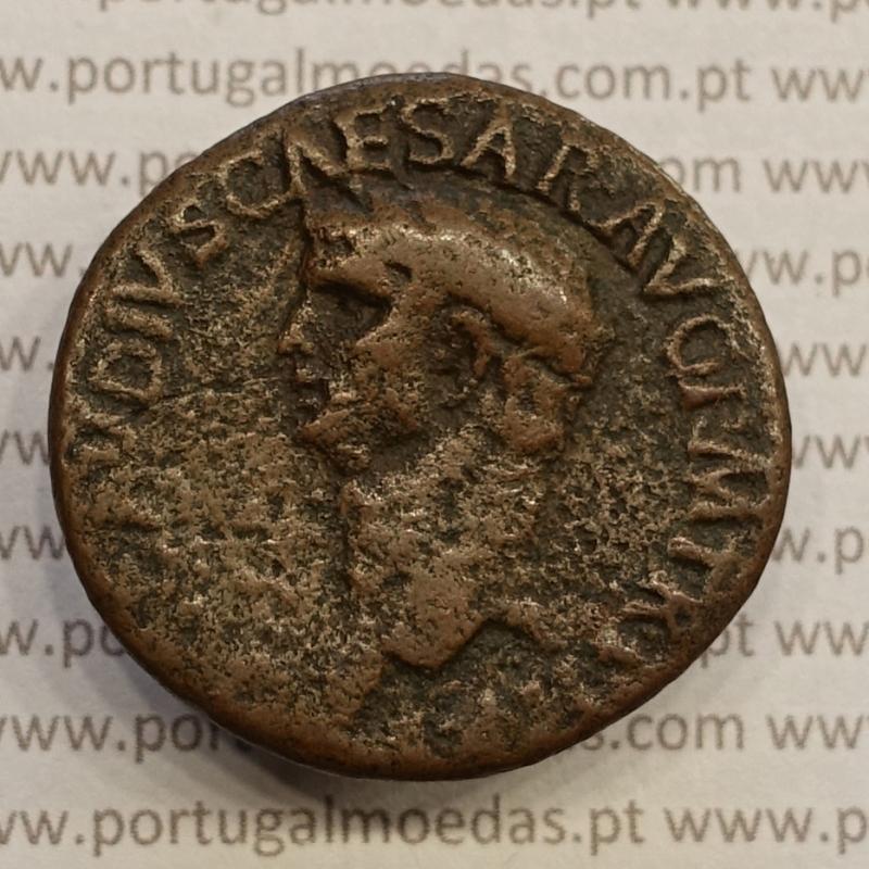 MOEDA DO IMPÉRIO ROMANO - IMPERADOR CLAUDIO - ASSE COBRE CLAVDIVS (41 d.C - 54 d.C)