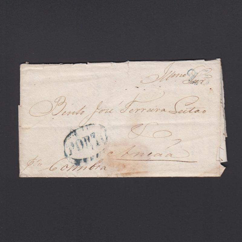 Pré-Filatélica circulada do Porto para Ançã datada 08-04-1835