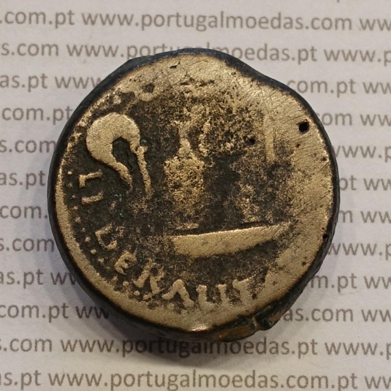 MOEDA IBÉRICA DUPÔNDIO EM COBRE - LIBERALITAS IVLIA - EBORA ( PORTUGAL / EVORA ) (ANO 12 a.C.)