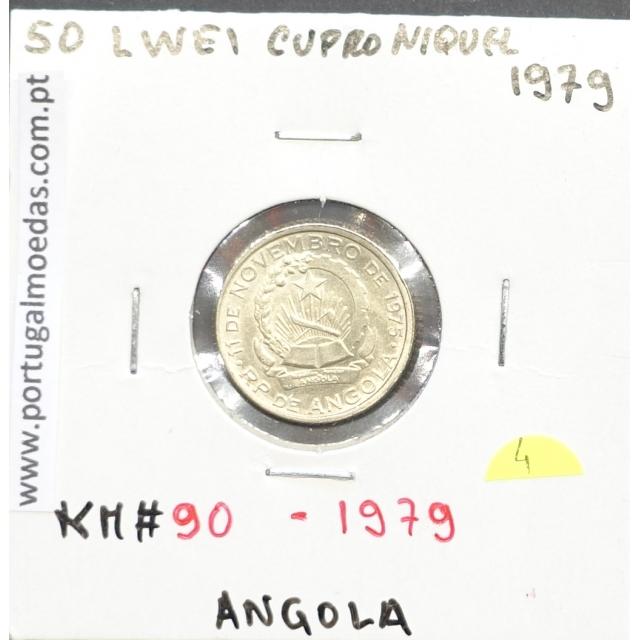 MOEDA DE 50 LWEI CUPRO-NÍQUEL 1979 REPÚBLICA POPULAR DE ANGOLA - KRAUSE WORLD COINS ANGOLA KM90.1