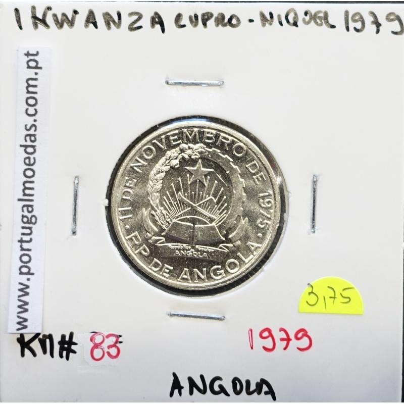 MOEDA DE 1 KWANZA CUPRO-NÍQUEL 1979 REPÚBLICA POPULAR DE ANGOLA - KRAUSE WORLD COINS ANGOLA KM83