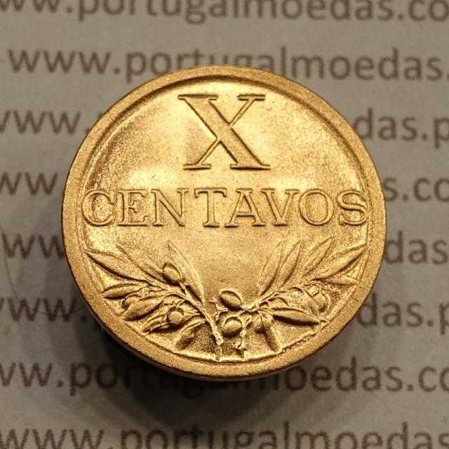 MOEDA DE DEZ CENTAVOS (X CENTAVOS) BRONZE 1942 SOBERBA