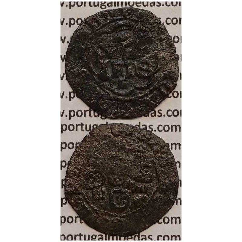 MOEDA REAL - COBRE C CARIMBO DE AÇOR 1580-1583