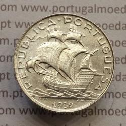 MOEDA 2$50 ESCUDOS (DOIS ESCUDOS E CINQUENTA CENTAVOS) PRATA 1932 (BELA) -  REPÚBLICA PORTUGUESA