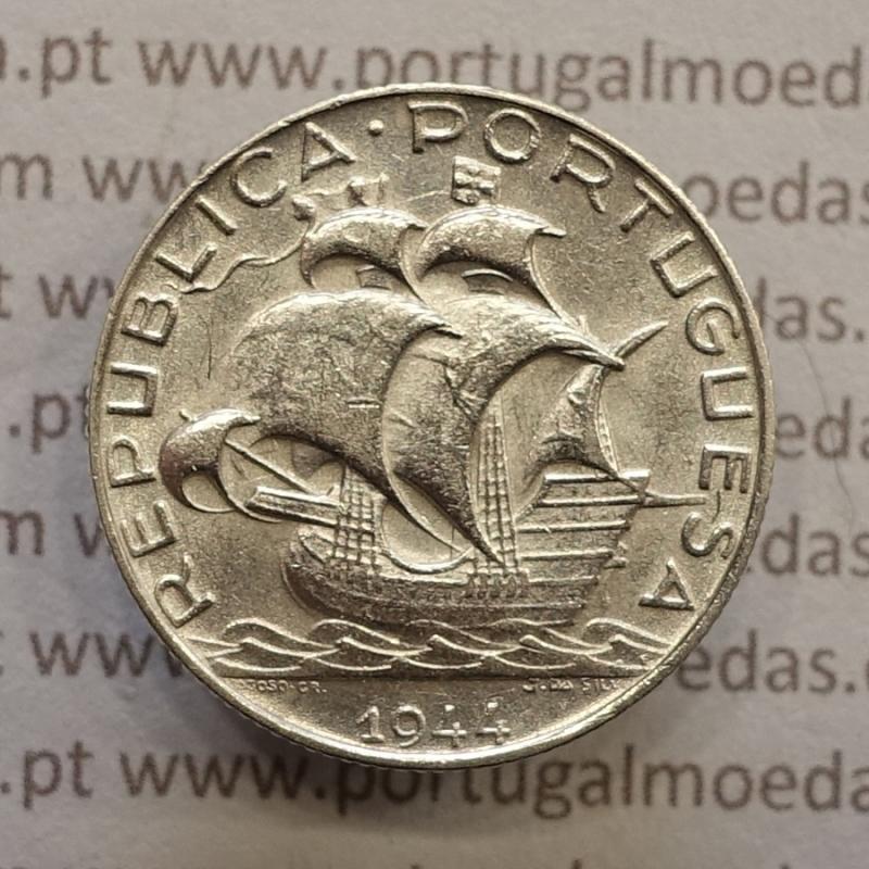 MOEDA 2$50 ESCUDOS (DOIS ESCUDOS E CINQUENTA CENTAVOS) PRATA 1944 (MBC+ / BELA-) -  REPÚBLICA PORTUGUESA