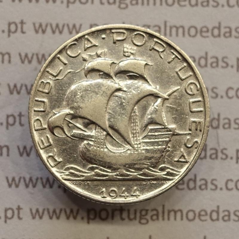 MOEDA 2$50 ESCUDOS (DOIS ESCUDOS E CINQUENTA CENTAVOS) PRATA 1944 (BC+) -  REPÚBLICA PORTUGUESA