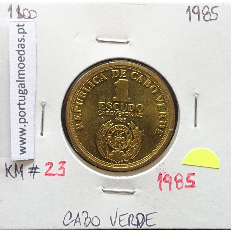 MOEDA DE 1 ESCUDO 1985 AÇO/LATÃO - REPÚBLICA DE CABO VERDE - KRAUSE WORLD COINS CAPE VERDE KM23