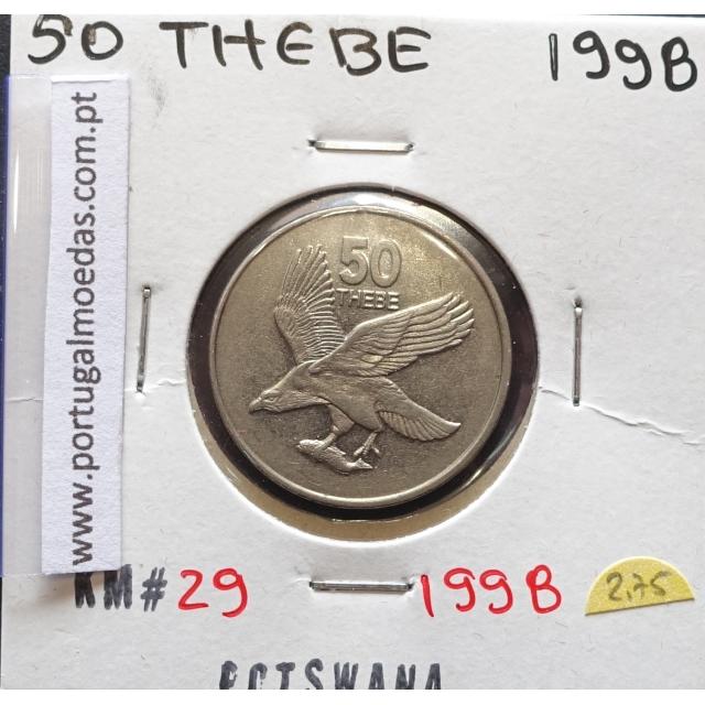 MOEDA DE 50 THEBE AÇO NIQUEL 1991 - BOTSWANA - KRAUSE WORLD COINS BOTSWANA KM 29