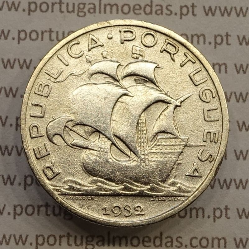 "MOEDA 5$00 ESCUDOS ""CINCO ESCUDOS"" PRATA 1932 (BC+) -  REPÚBLICA PORTUGUESA"