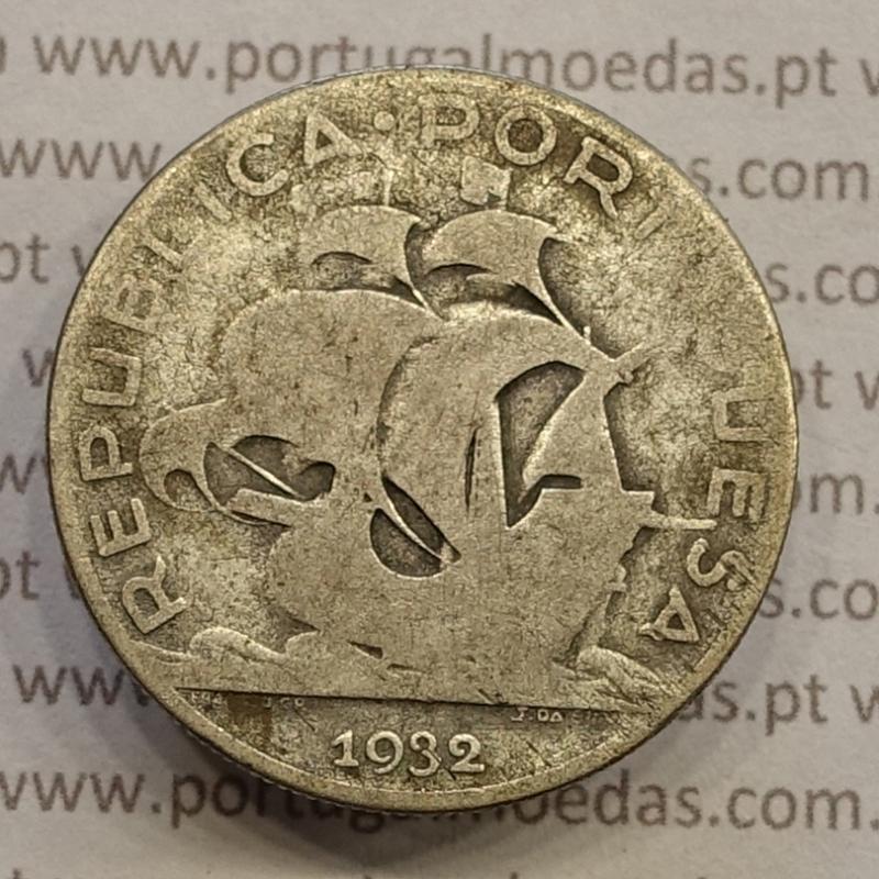 "MOEDA 5$00 ESCUDOS ""CINCO ESCUDOS"" PRATA 1932 (BC- / REG) -  REPÚBLICA PORTUGUESA"