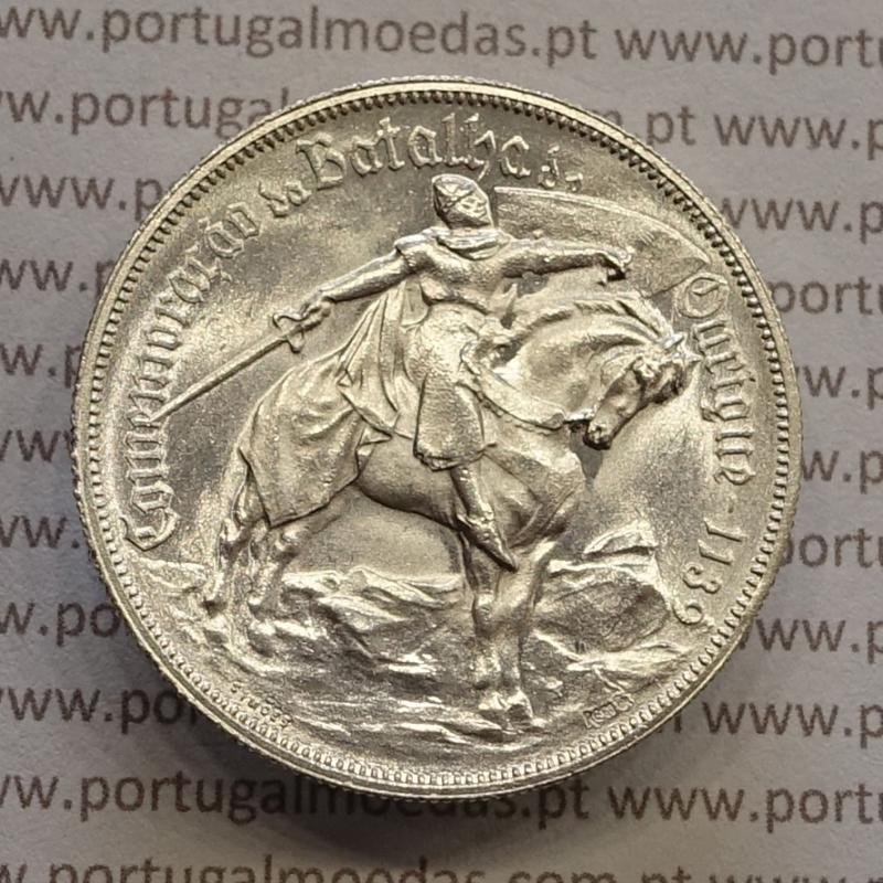 "MOEDA 10$00 ESCUDOS ""DEZ ESCUDOS"" PRATA 1928 BATALHA DE OURIQUE (SOBERBA) -  REPÚBLICA PORTUGUESA"