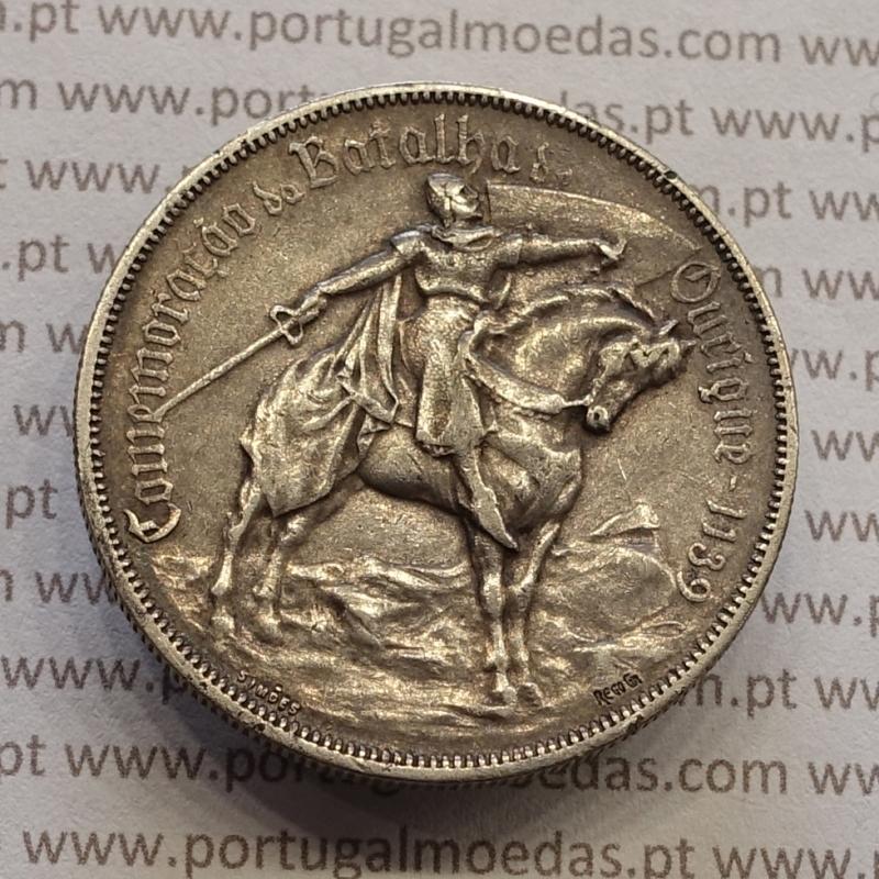 "MOEDA 10$00 ESCUDOS ""DEZ ESCUDOS"" PRATA 1928 BATALHA DE OURIQUE (MBC) -  REPÚBLICA PORTUGUESA"