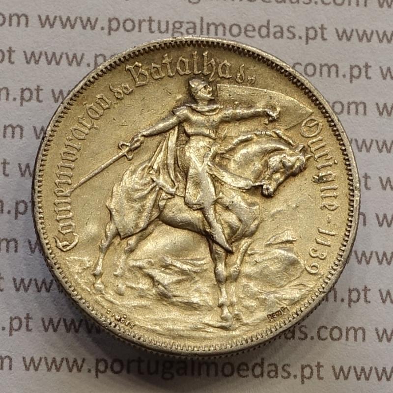 "MOEDA 10$00 ESCUDOS ""DEZ ESCUDOS"" PRATA 1928 BATALHA DE OURIQUE (BC) -  REPÚBLICA PORTUGUESA"