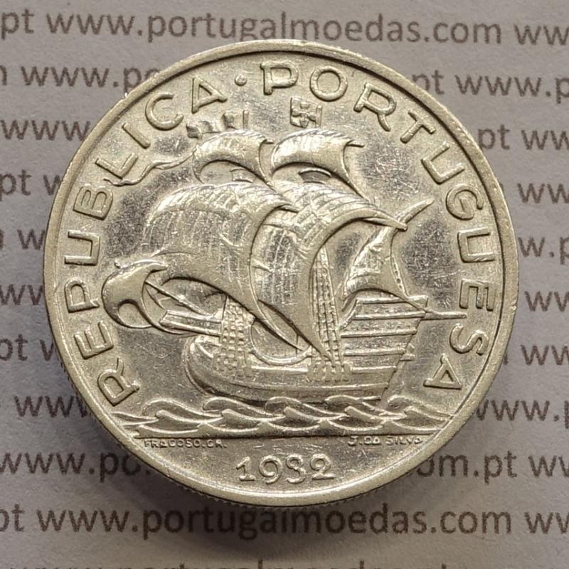 "MOEDA 10$00 ESCUDOS ""DEZ ESCUDOS"" PRATA 1932 (MBC+) -  REPÚBLICA PORTUGUESA"