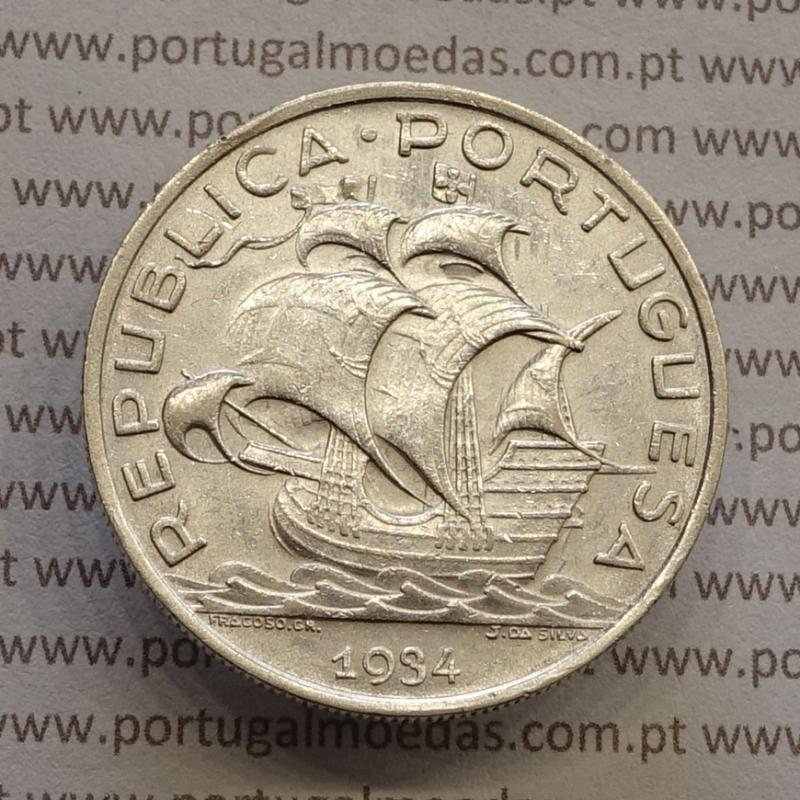 "MOEDA 10$00 ESCUDOS ""DEZ ESCUDOS"" PRATA 1934 (MBC+ / BELA) -  REPÚBLICA PORTUGUESA"