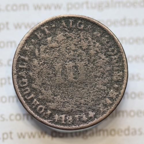 MOEDA 3 RÉIS COBRE (III RÉIS) 1874 (REG / MC) - REI D. LUIS I - WORLD COINS PORTUGAL KM517