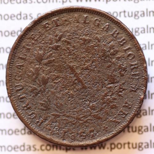 MOEDA 10 RÉIS COBRE (X RÉIS) 1867 (BC- / REG) - REI D. LUIS I - WORLD COINS PORTUGAL KM514