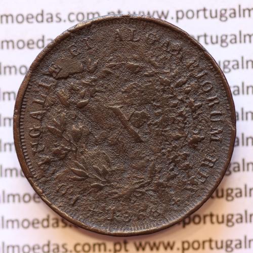 MOEDA 10 RÉIS COBRE (X RÉIS) 1868 (BC-) - REI D. LUIS I - WORLD COINS PORTUGAL KM514