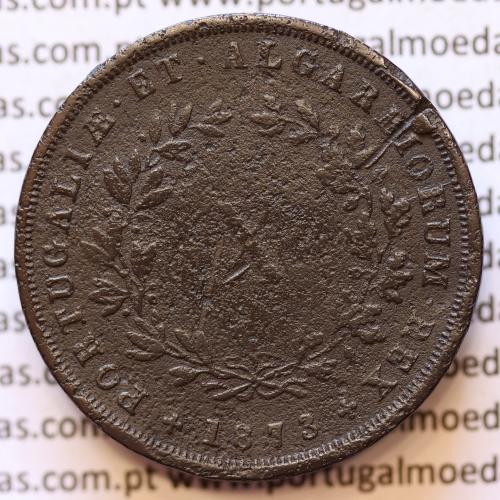 MOEDA 10 RÉIS COBRE (X RÉIS) 1873 (BC) - REI D. LUIS I - WORLD COINS PORTUGAL KM514