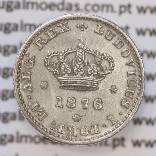 Moeda 50 Réis Prata 1876 ou Meio Tostão Prata 1876 (BELA) - Rei D. LUIS I - World Coins Portugal KM 506