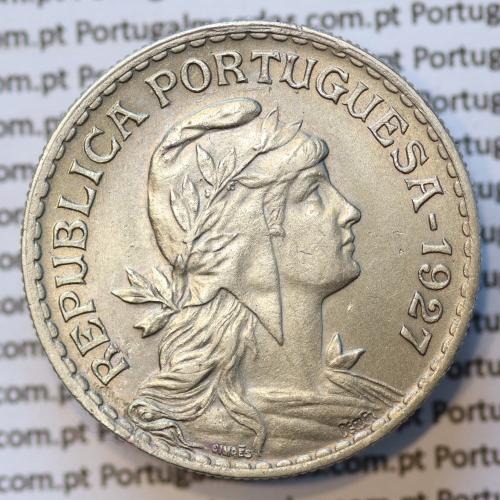 MOEDA DE UM ESCUDO (1$00) ALPACA 1927 BELA