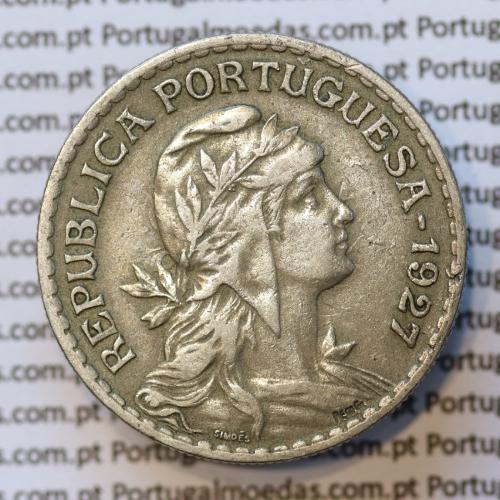 MOEDA DE UM ESCUDO (1$00) ALPACA 1927 MBC+