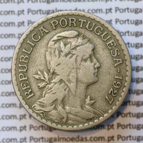 MOEDA DE UM ESCUDO (1$00) ALPACA 1927 MBC