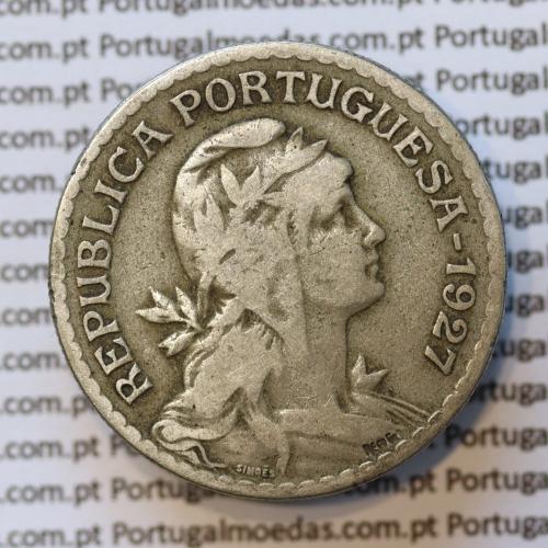 MOEDA DE UM ESCUDO (1$00) ALPACA 1927 BC+