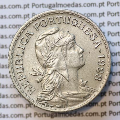 MOEDA DE UM ESCUDO (1$00) ALPACA 1928 BELA