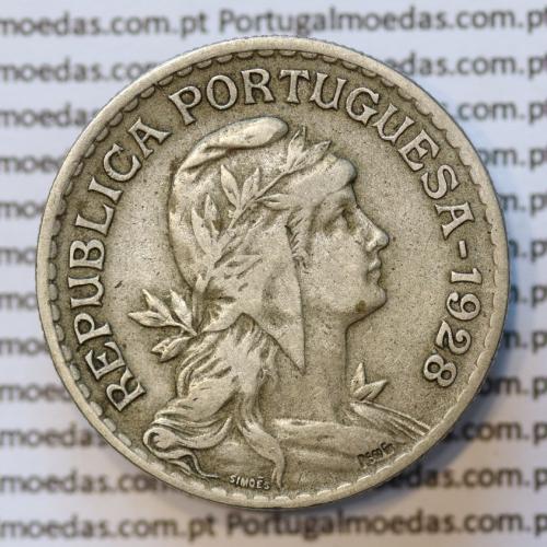MOEDA DE UM ESCUDO (1$00) ALPACA 1928 MBC+