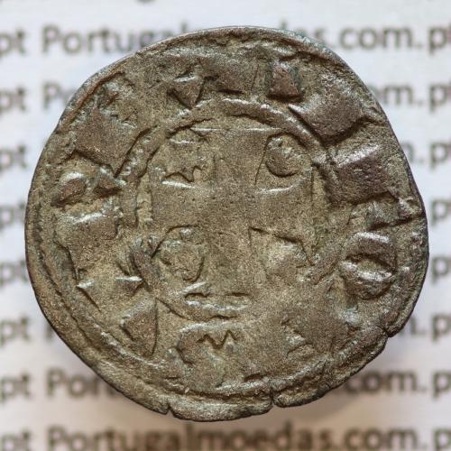 Moeda de um Dinheiro em Bolhão de D. AFONSO III (1248-1279) ALFONSV REX / PO RT VG AL
