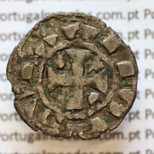 Moeda de um Dinheiro em Bolhão de D. AFONSO III (1248-1279) ALFONSV RX / PO RT VG AL