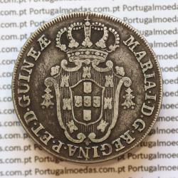 Moeda 8 Macutas 1796 prata , Angola Reinado de D. Maria I (1786 -1799) - World Coins Angola  KM 34