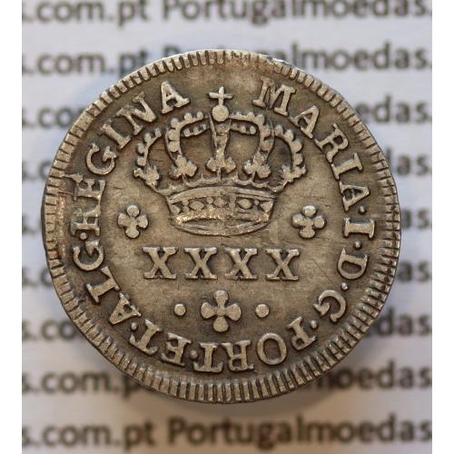 Meio Tostão Prata (50 Réis) D. Maria I (1786 -1799) - Diadema losango 2 pontos V.M.A: Ma1.MT.14 - World Coins Portugal KM 283