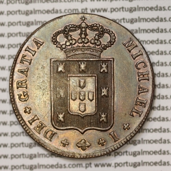 X Réis 1831 Cobre (10 Réis) D. Miguel I (1828-1834) Modulo menor 34 mm, hastes curtas - World Coins Portugal  KM390