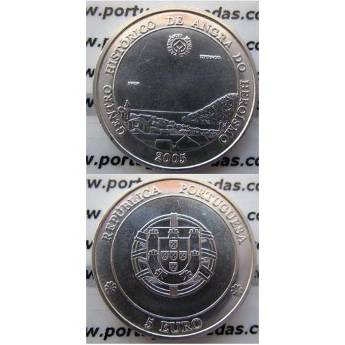 """5 EUROS PRATA 2005 """"ANGRA DO HEROISMO """" (BELA/SOB)"""