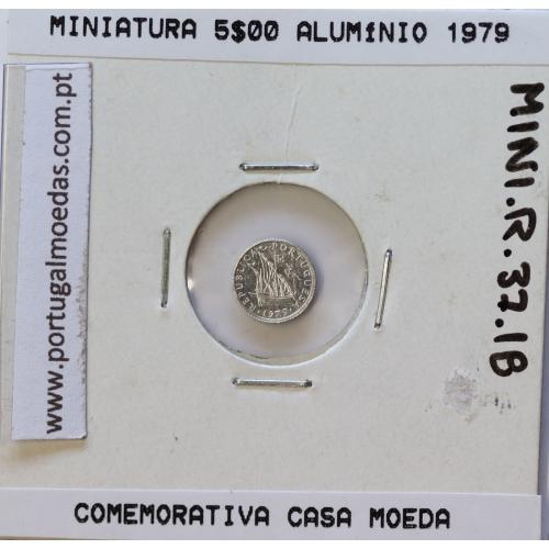 Miniatura de moeda de 5$00 1979 em alumínio, emissão da Casa da Moeda para promoção de eventos