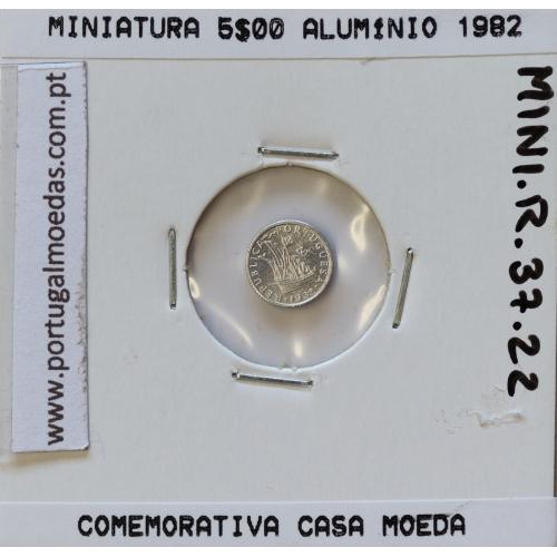 Miniatura de moeda de 5$00 1982 em alumínio, emissão da Casa da Moeda para promoção de eventos