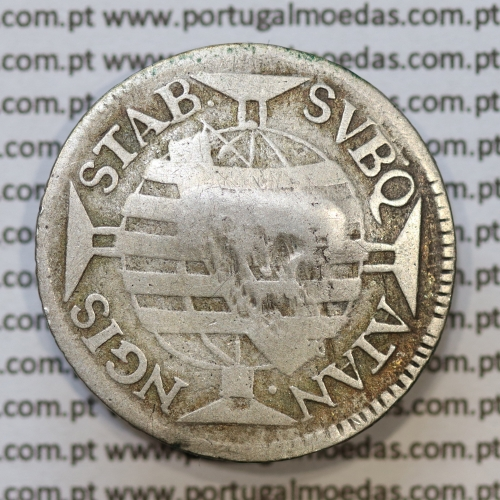"""""""ATAN NGIS"""" Carimbo escudete de D. João Príncipe Regente, sobre 150 Réis 1754 Prata D. José I (Brasil) Série J, """"R"""".""""ATAN NGIS"""""""