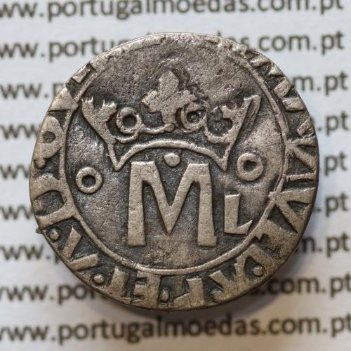 Moeda Vintém Prata D. Manuel I (1495-1521), 20 reais prata D. Manuel I - A. Gomes 28.01