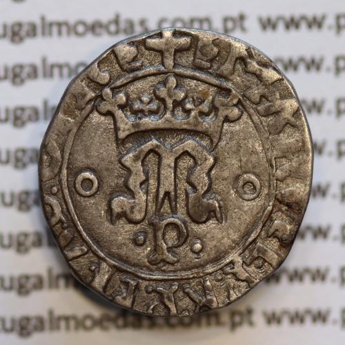 Vintém Prata de D. Manuel I 1495-1521, Porto, (não classificada)  +EMAnVEL:P:R:P:ET:A:D:GInE / +EMAnVEL:P:R:P:ET:A:D:GInE: