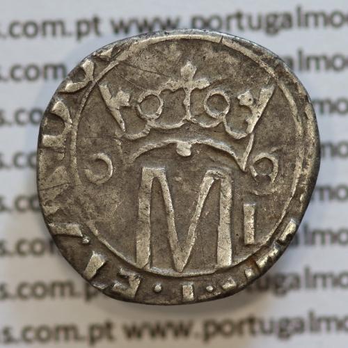 Vintém Prata de D. Manuel I 1495-1521, Lisboa, Variante não classificada de características atípicas
