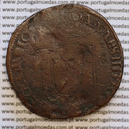 X Reais Híbrida D. Sebastião I - anverso de D. João III (1521-1557) reverso de D. Sebastião I (1557 -1578), extremamente rara