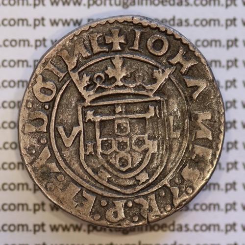 Moeda Tostão Prata D. João III 1521-1557, (Lisboa) 100 Reais Prata