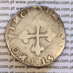 Moeda Meio Tostão Prata de D. João III 1521-1557, cruz da Ordem de Avis  (2º Tipo), 50 Reais, (A. Gomes 88.02)