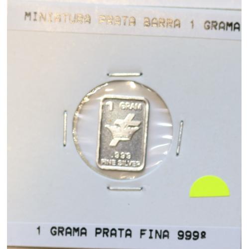 Barra em miniatura de prata 999 %, 1Gr. (diversas temáticas)