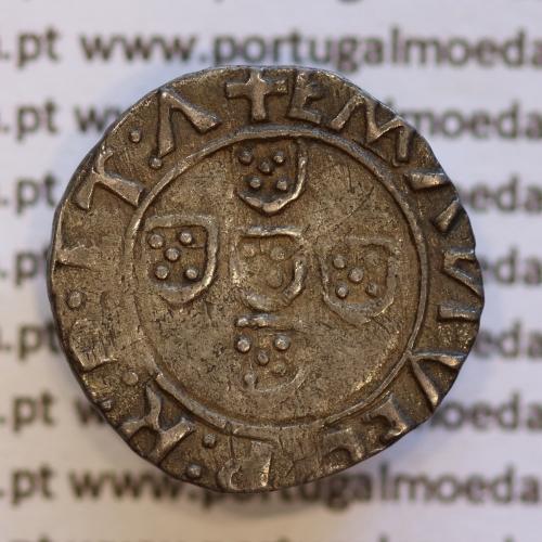 Meio Vintém Prata de D. Manuel I 1495-1521, Lisboa, (A. Gomes 16.07, variante) +EMANVEL:P:R:P:ET:A / +EMANVEL:P:R:P:ET:A: