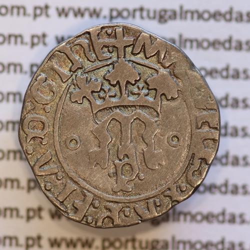 Vintém Prata de D. Manuel I 1495-1521, Porto, (não classificada)  +MAnVELIS:P:R:P:ET:A:D:GInE / +EMAnVEL:P:R:P:ET:A:D:GVInE.