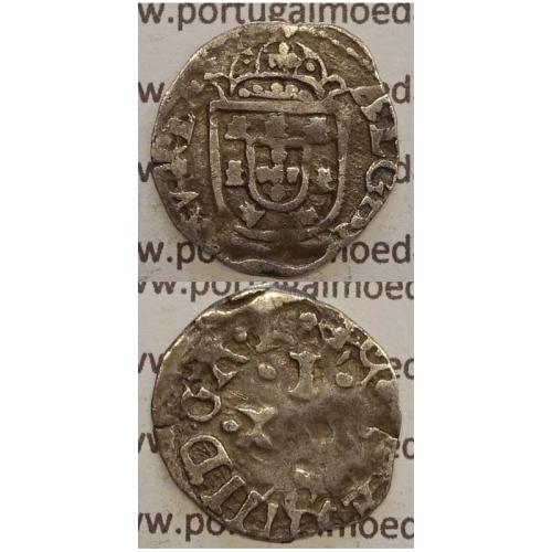 Vintém Prata de D. João IV 1640-1656, (não catalogada no A. Gomes), Legenda: ALGARABIORV REX / •IOANNES IIII DG•R•P